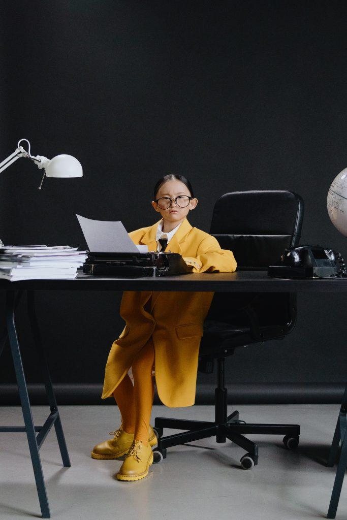 Dziecko w biurze