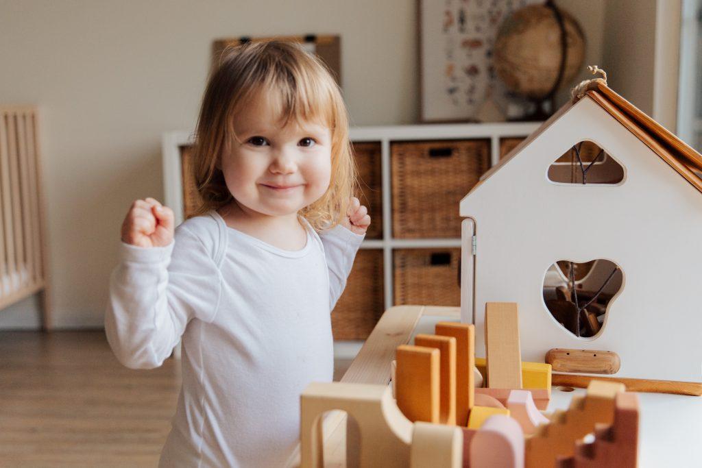 Kącik zabaw dla dzieci - klocki
